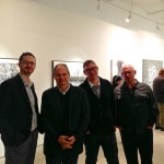 Josh Grossman- AD @ Toronto Downtown Jazz, David Eisner- AD @ Harold Green Jewish Theatre, Robert Simard- ED @ Dancemakers, Norman Zaiger, publicist. — at Julie M. Gallery.